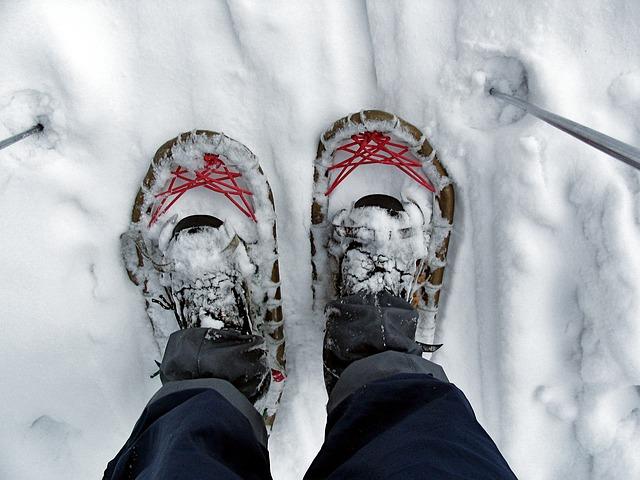 как се носят снегоходки
